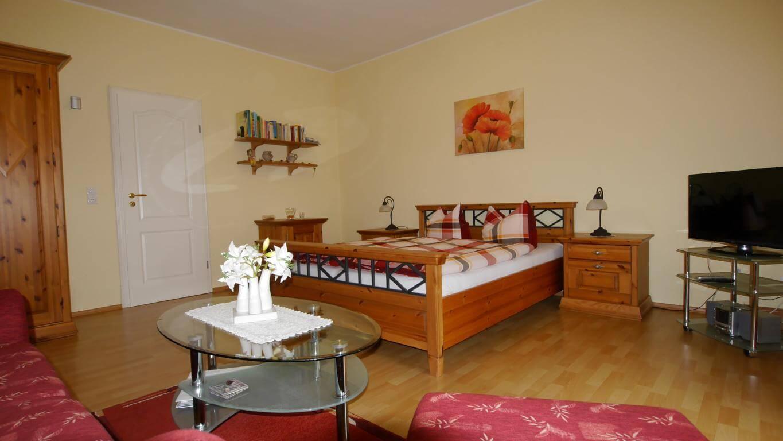 Wohn-/Schlafzimmer Ferienwohnung 5 Villa Liliengrund Eisenach